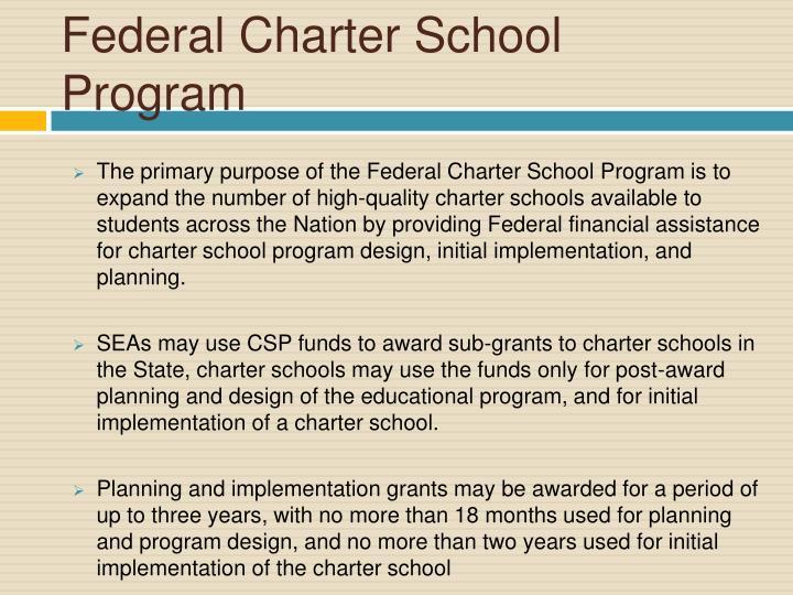 Federal Charter School Program