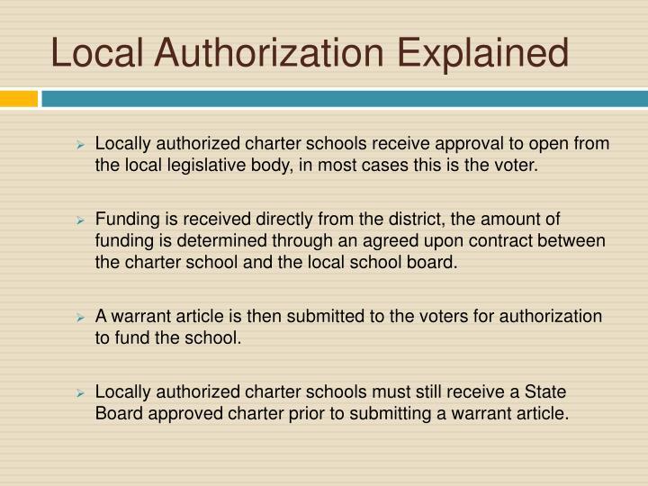 Local Authorization Explained
