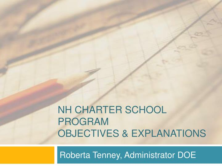 Nh charter school program objectives explanations