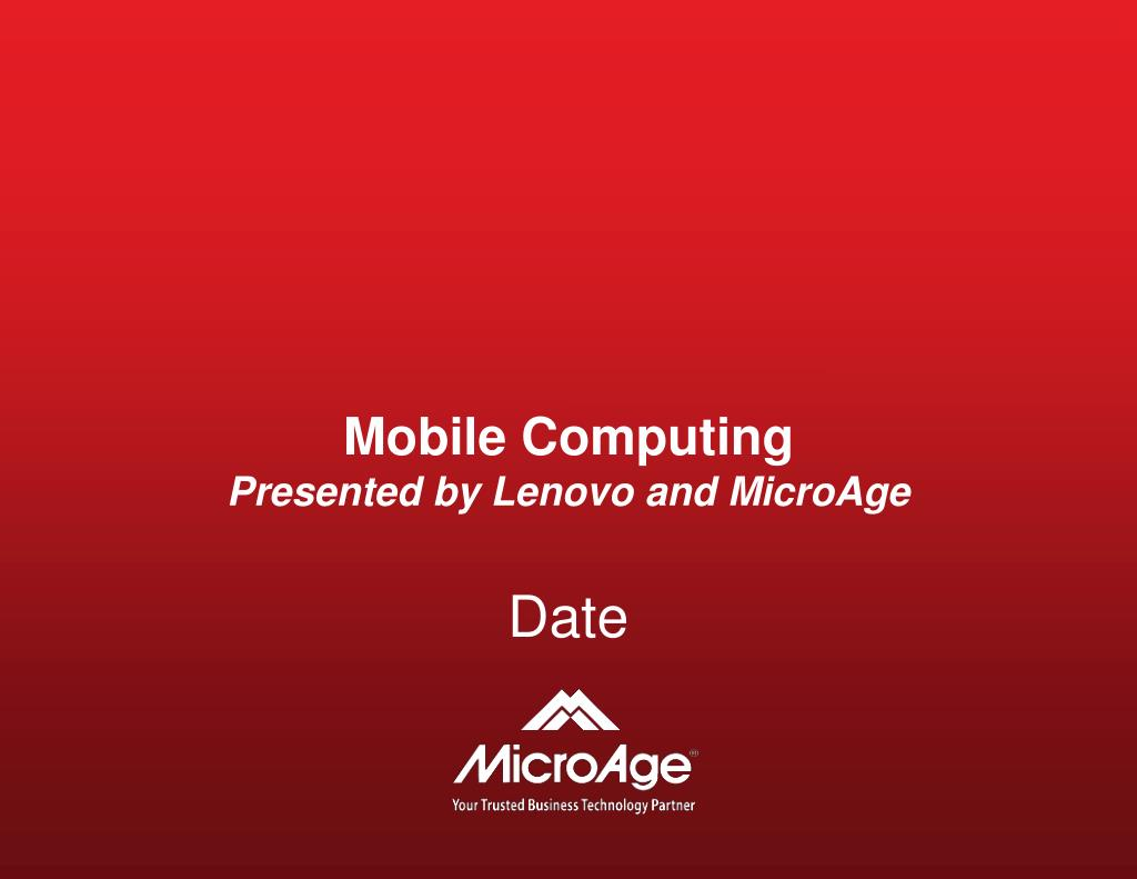 mobile computing presented by lenovo and microage