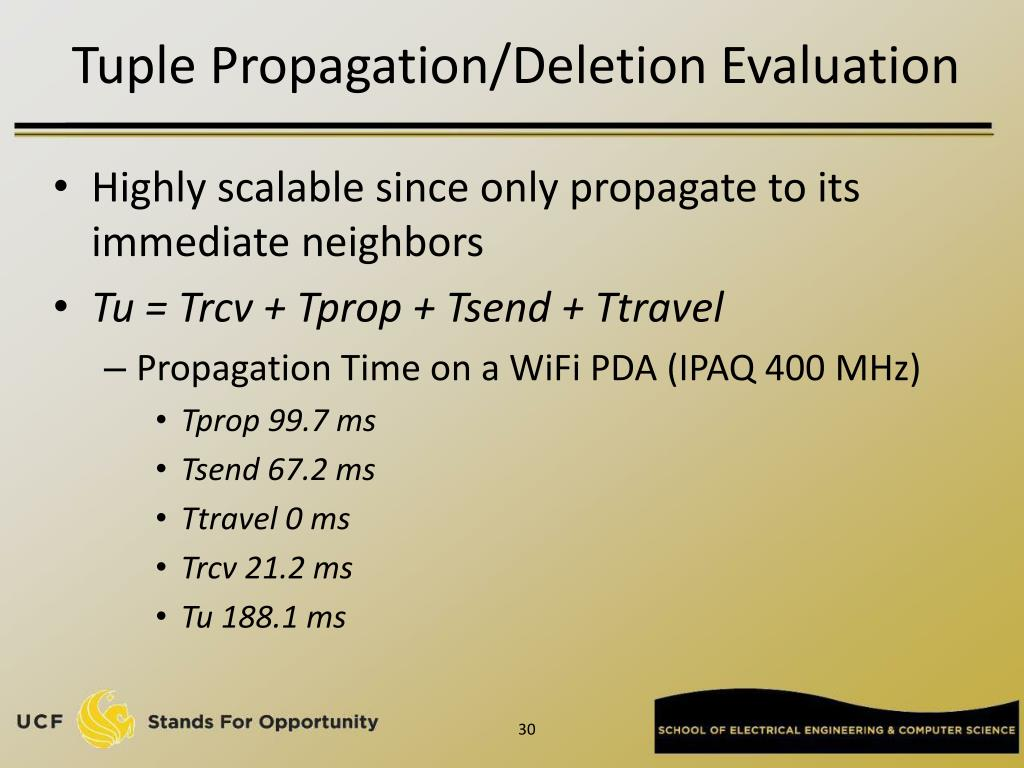 Tuple Propagation/Deletion Evaluation