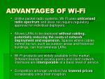 advantages of wi fi