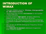 introduction of wimax