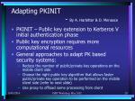 adapting pkinit by a harbitter d menasce