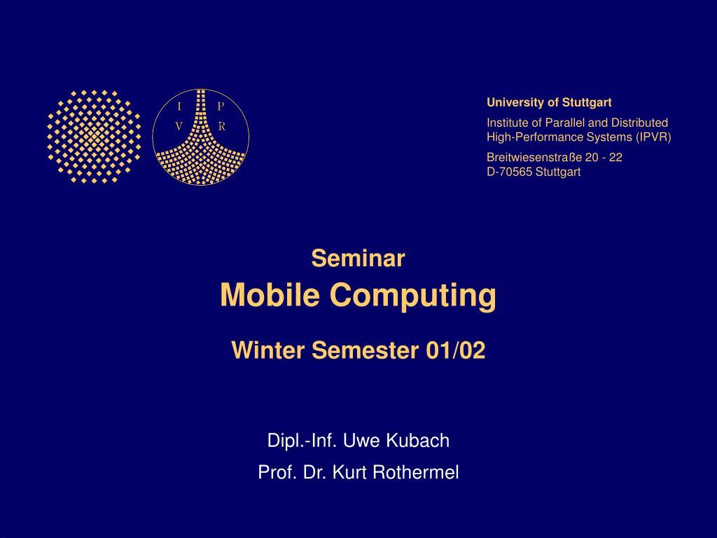 dipl inf uwe kubach prof dr kurt rothermel l.