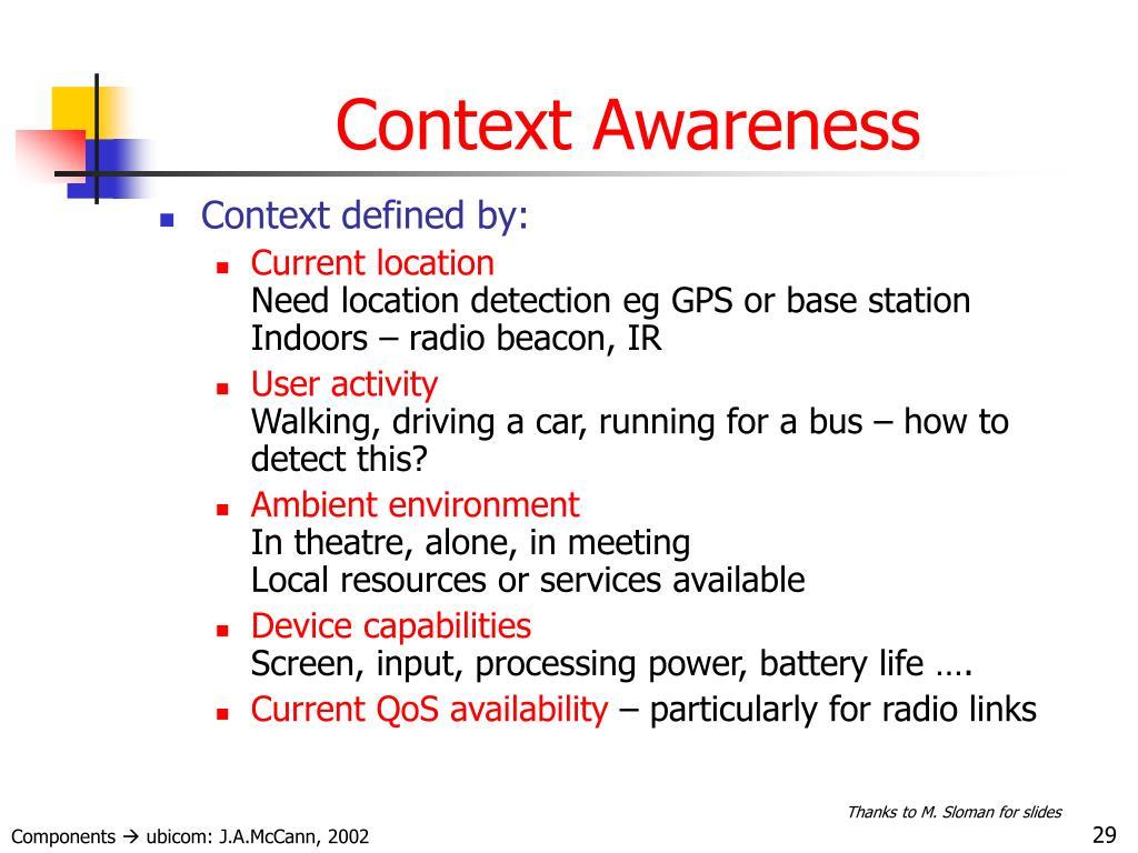 Context Awareness