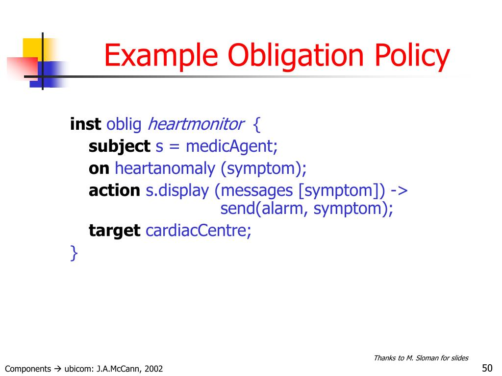 Example Obligation Policy