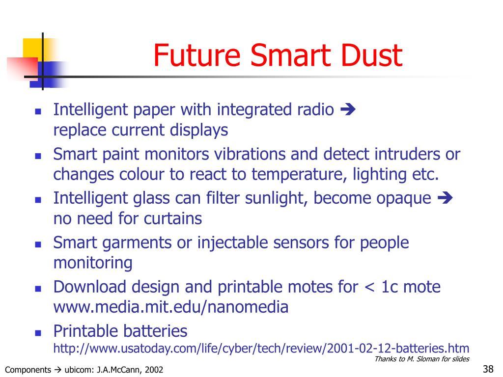 Future Smart Dust