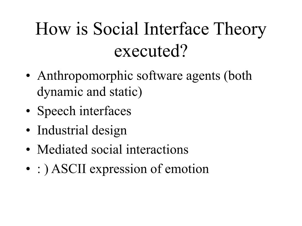 How is Social Interface Theory