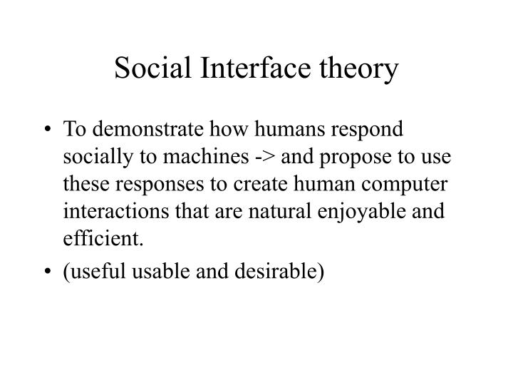 Social interface theory