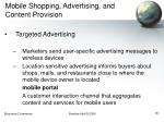 mobile shopping advertising and content provision30