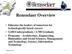rensselaer overview