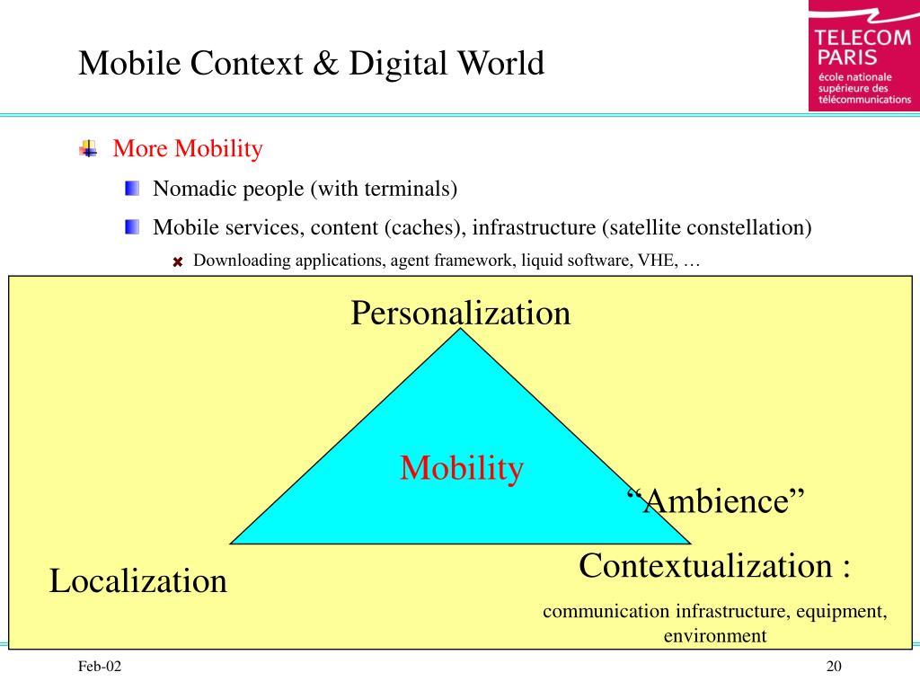 Mobile Context & Digital World