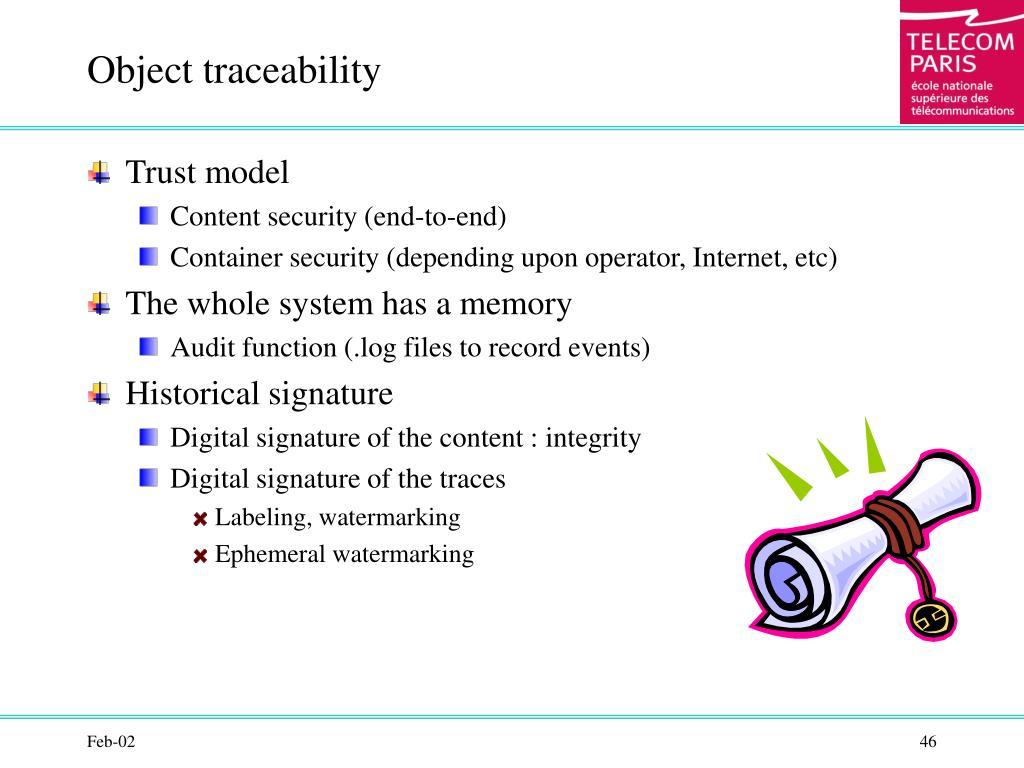 Object traceability