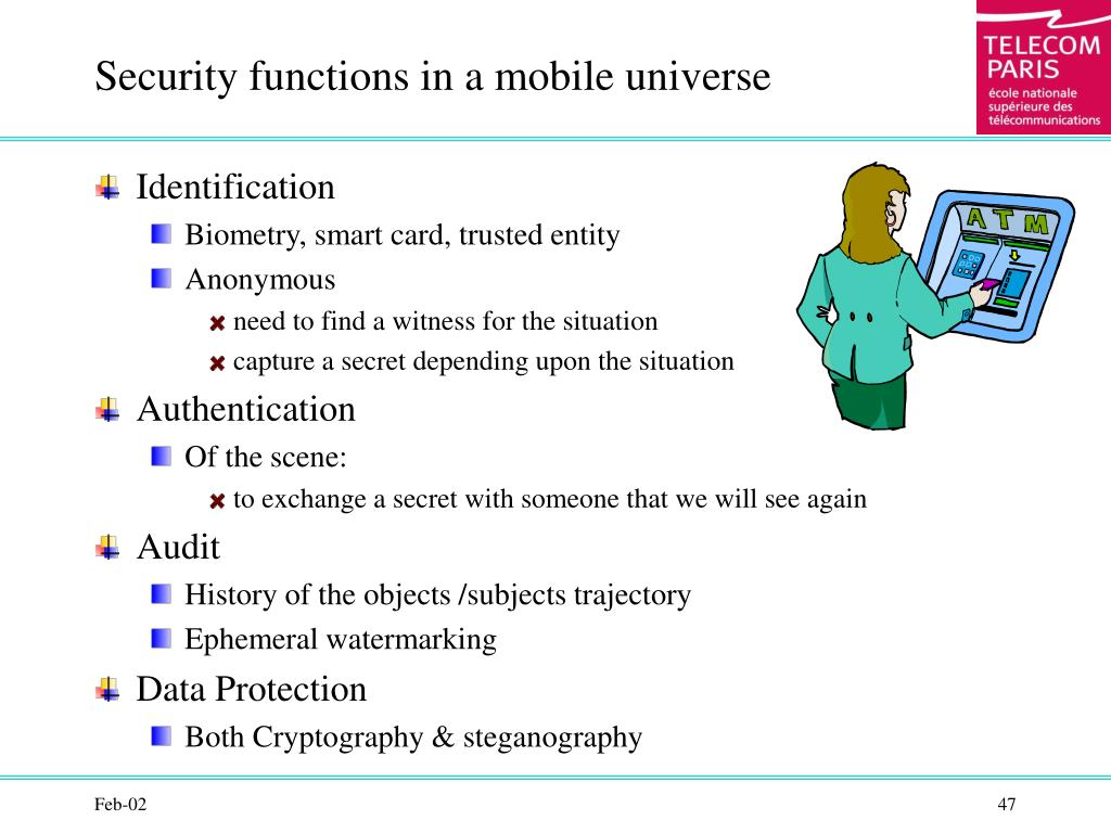 Security functions in a mobile universe