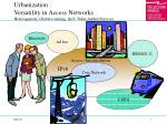 urbanization versatility in access networks heterogeneity global roaming qos value added services