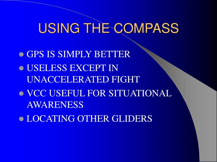 USING THE COMPASS