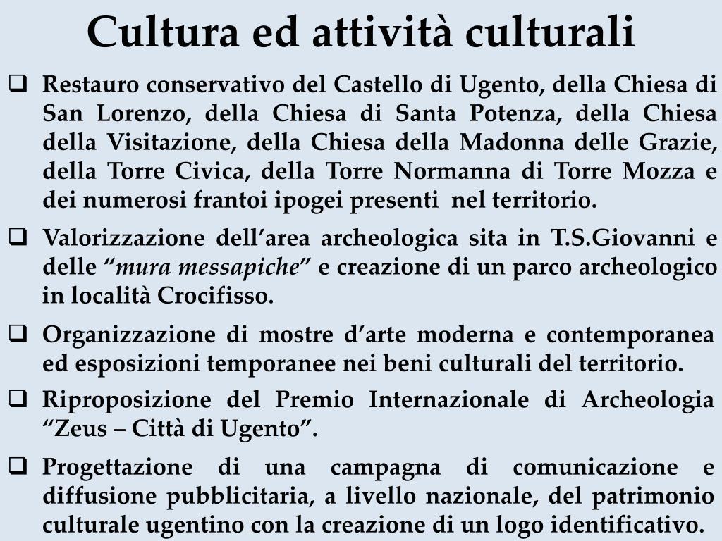 Cultura ed attività culturali