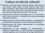 cultura ed attivit culturali