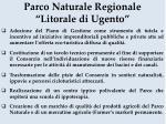 parco naturale regionale litorale di ugento