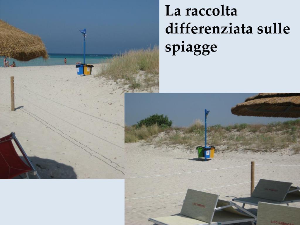 La raccolta differenziata sulle spiagge