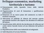 sviluppo economico marketing territoriale e turismo