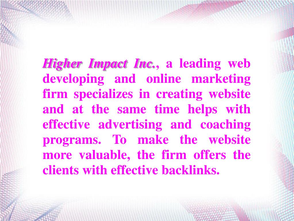 Higher Impact Inc.