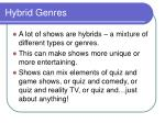 hybrid genres
