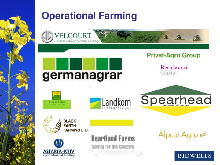 Operational Farming