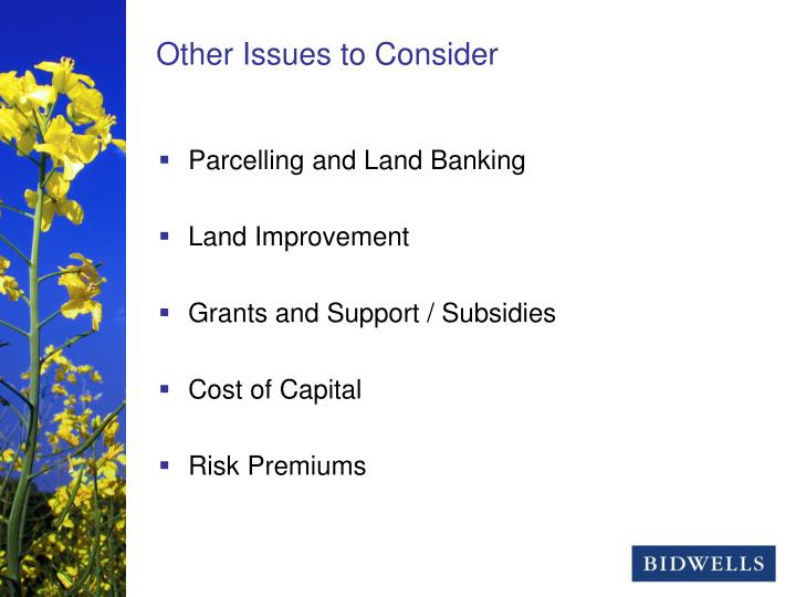 Parcelling and Land Banking