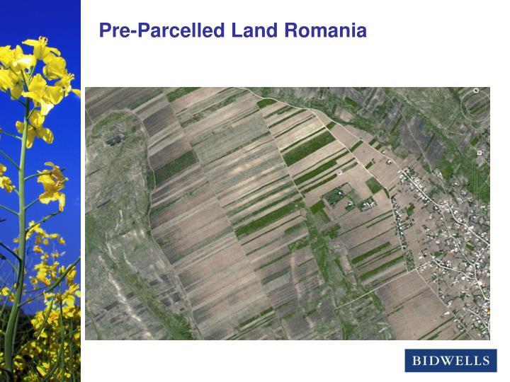Pre-Parcelled Land Romania