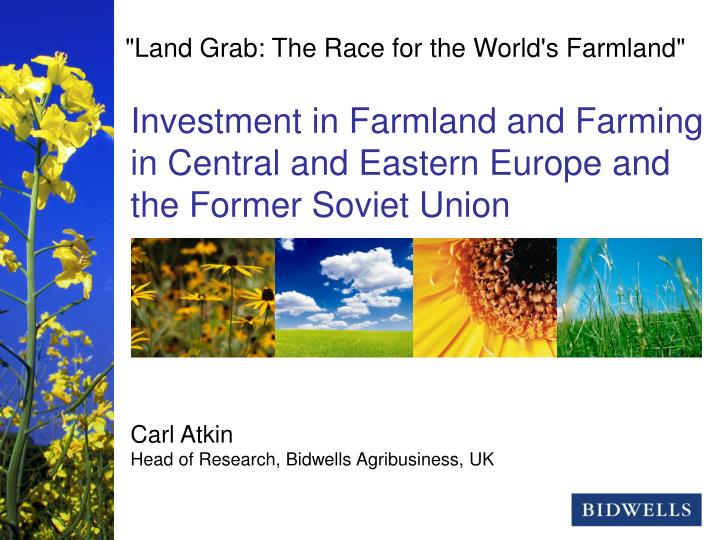"""""""Land Grab: The Race for the World's Farmland"""""""
