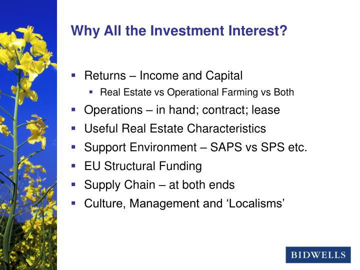 Returns – Income and Capital