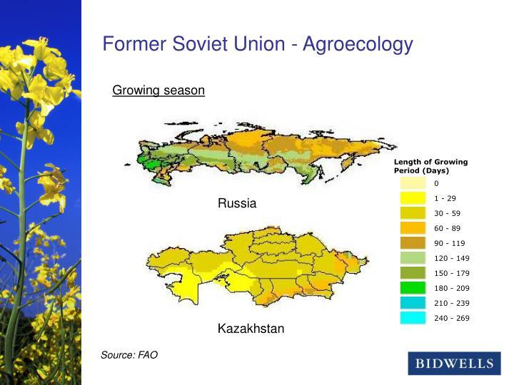 Former Soviet Union - Agroecology