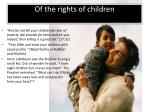 of the rights of children