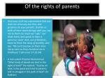 of the rights of parents