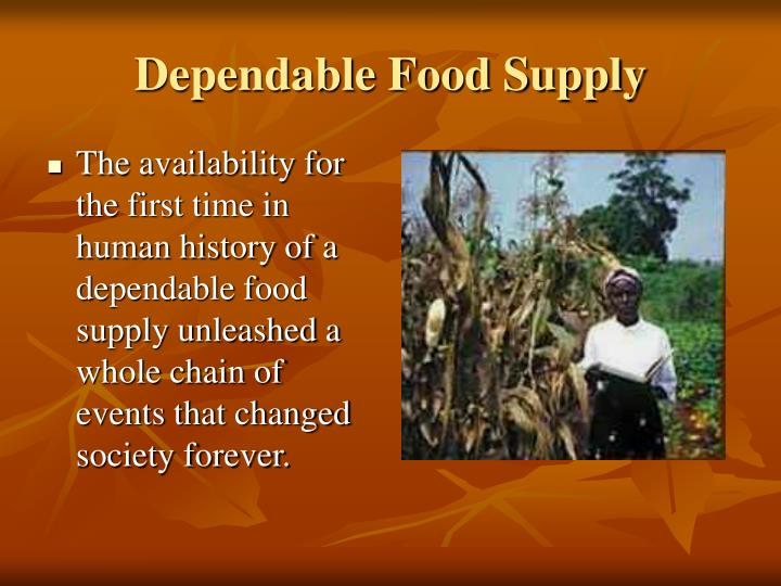 Dependable Food Supply