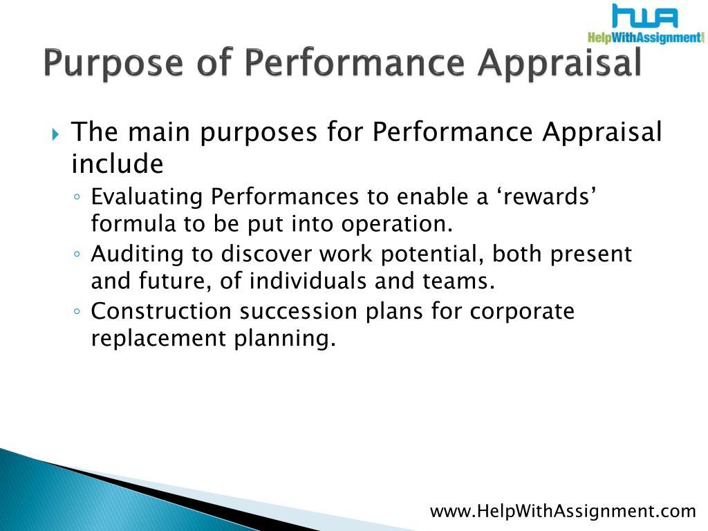 Purpose of Performance