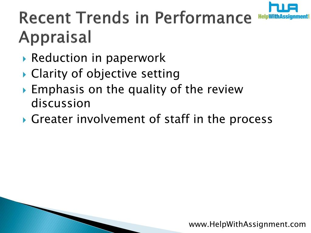 Recent Trends in Performance