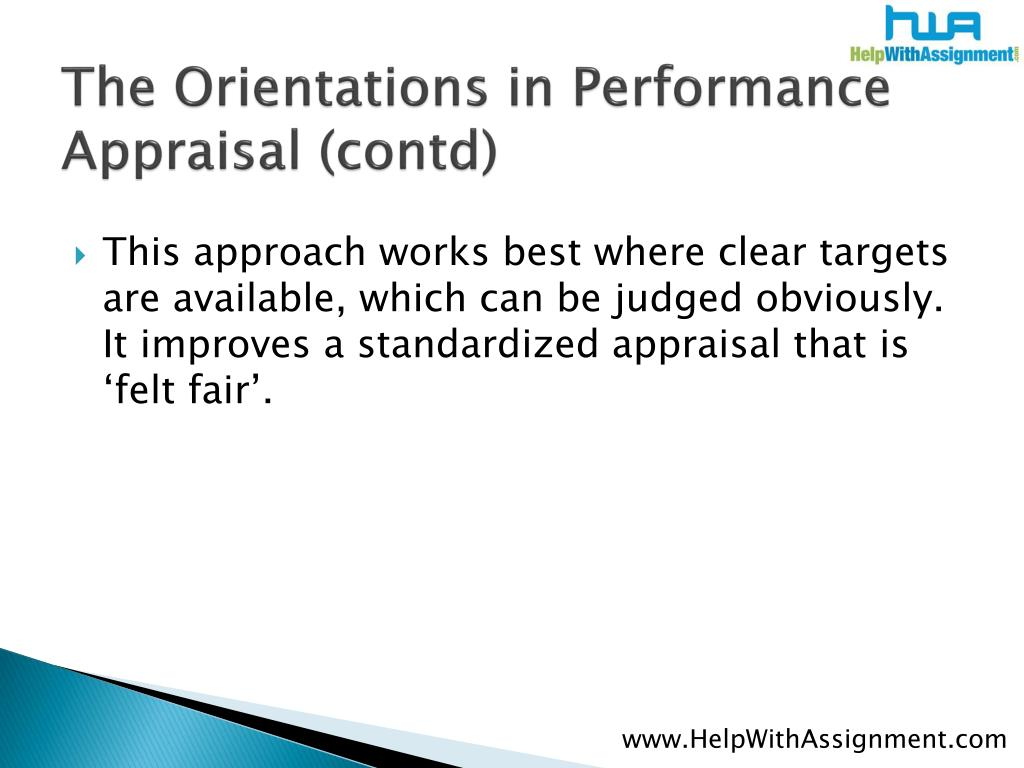 The Orientations in Performance