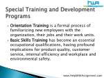 special training and development programs