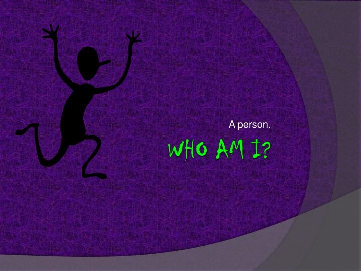A person
