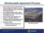 reimbursable agreement process