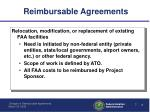 reimbursable agreements1