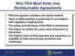 why faa must enter into reimbursable agreements