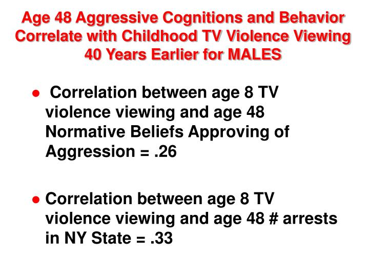 the correlation between tv violence and children behavior Research questions link between media violence, violent behavior and-effect relationship have tried to tie violence in movies, television and video games.