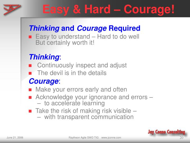 Easy & Hard – Courage!