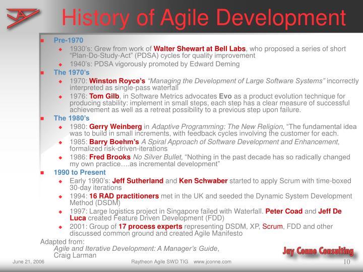 History of Agile Development