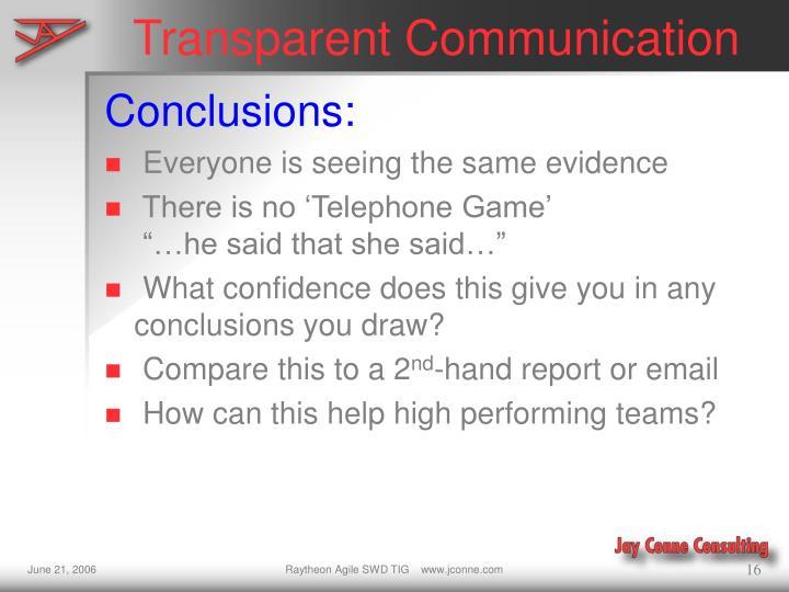 Transparent Communication