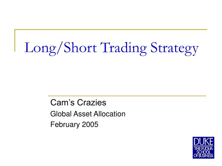 long short trading strategy n.